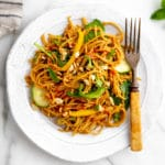 Ultimate Asian Peanut Noodle Salad with Creamy Peanut DRESSING (Vegan & Gluten Free)