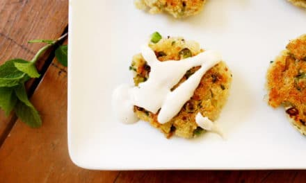 Quinoa Cakes with Yogurt Tahini Sauce