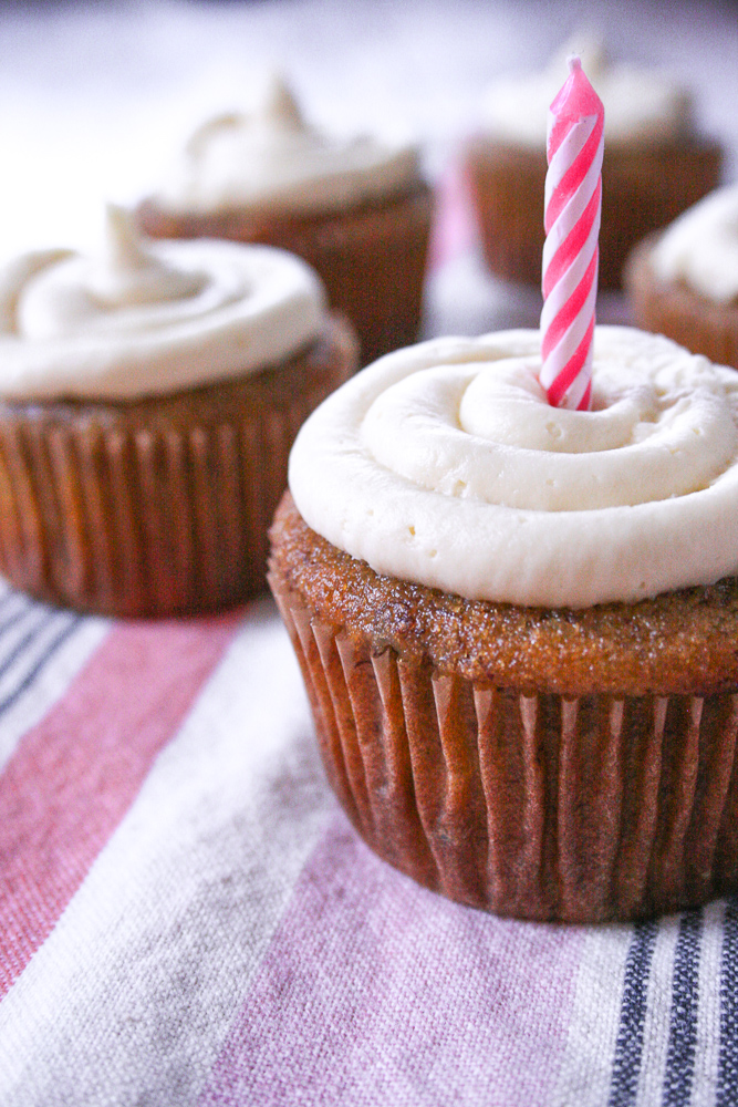gluten free banana muffins with cream cheese frosting
