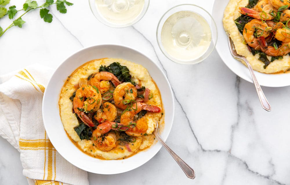 Coconut Sriracha Shrimp and Kale