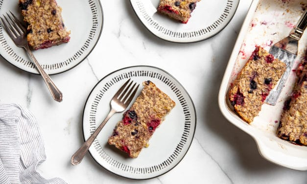Easy Baked Oatmeal Bars (Vegan, Gluten-Free, Naturally Sweetened)