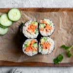 Easy Spicy Salmon Sushi Burrito Wraps (or Rolls!)
