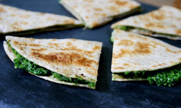 Cheesy Kale Quesadillas, plus GIVEAWAY!