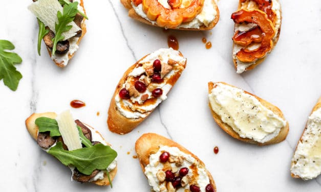 Whipped Ricotta Crostini (a.k.a the easiest appetizer ever)