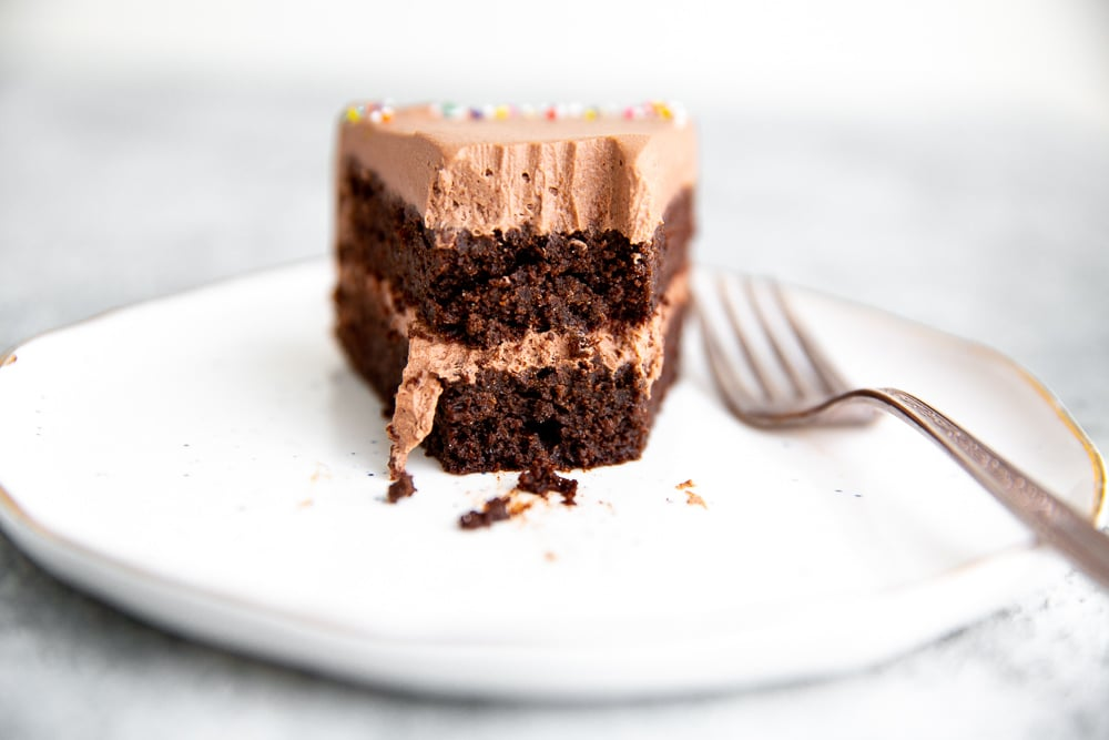Chocolate Quinoa Cake With Chocolate Whipped Cream Frosting Gf