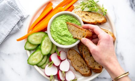 Creamy Pea Dip (an easy & healthy appetizer or snack!)