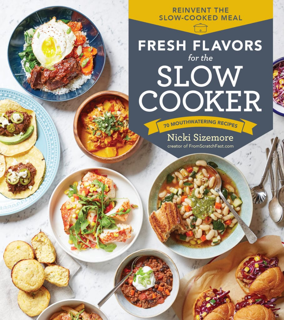 Book cover of Fresh Flavors for the Slow Cooker.