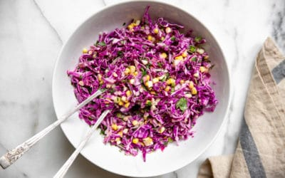 Quick & Easy Homemade Red Cabbage Coleslaw with Sweet Corn
