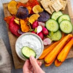 Healthy Herbed Cottage Cheese Veggie Dip (Easy & Quick!)