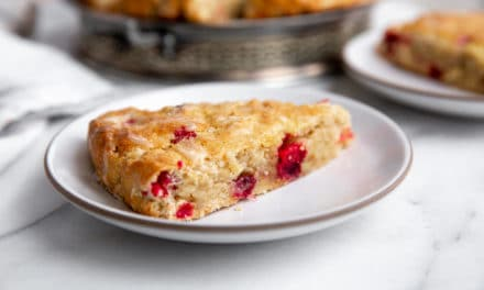 Cranberry Walnut Scones with Orange Glaze (Gluten Free Option!)