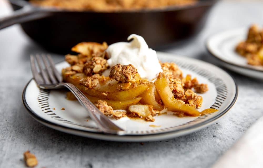 Gluten Free Pear and Ginger Crumble (Easy & Delicious!)