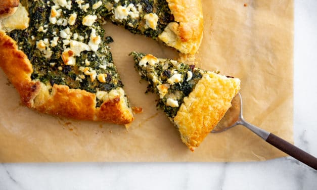 Savory Spinach Tart Recipe with Feta & Ricotta (Gluten Free Option!)